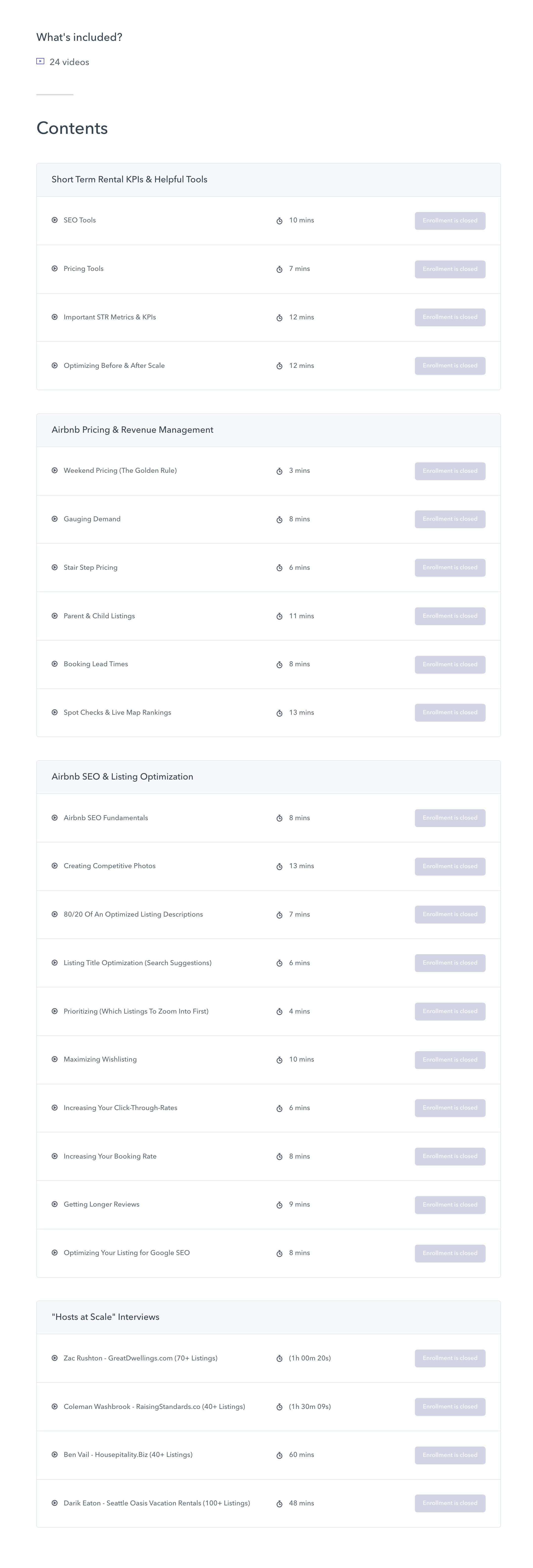 Airbnb SEO and Pricing Course Syllabus (Crop)