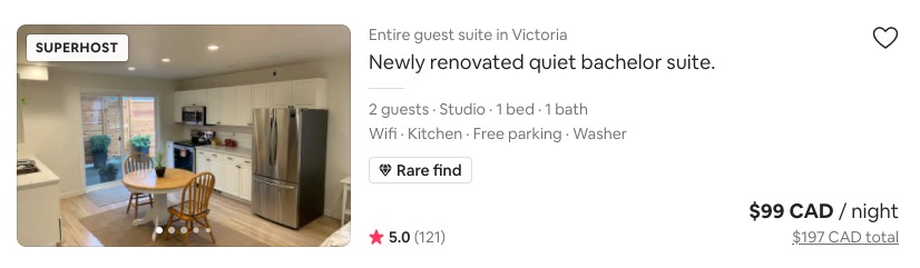 Airbnb rare find tag